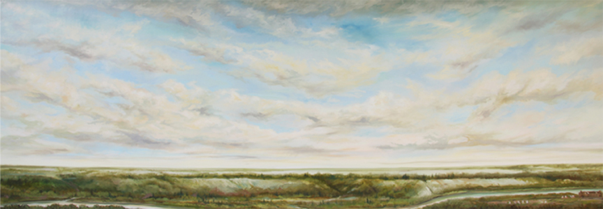 """Looking Across the Valley in 1800"" original oil painting by Richard Dixon allrights reserved copyright June  2008"